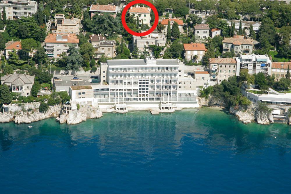 lokacija apartmana   pe ine rijeka   villa anica rijeka